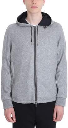 Ermenegildo Zegna Reversible Grey Cashmere And Nylon College Jacket