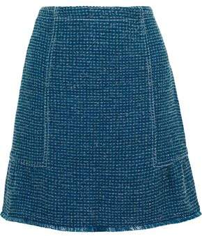 Sandro Fringe-Trimmed Tweed Mini Skirt