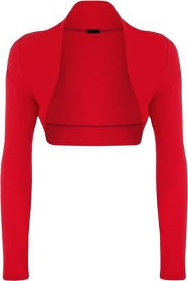 Momo Fashions Ladies Long Sleeve Jersey Shrug Bolero Cardigan Top CA Size 6-12