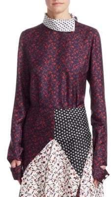 Calvin Klein Printed Silk Blouse