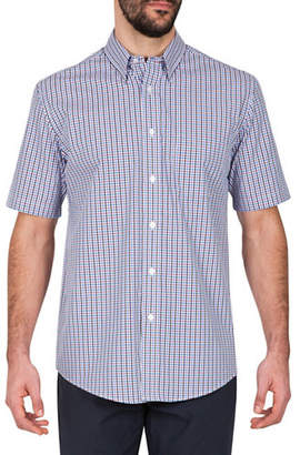 Haggar Multi Gingham Sport Shirt