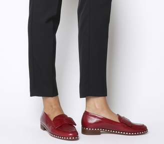 4a7e5d67f19 Office Present Bow Loafers Burgundy Groucho Leather Studded Rand