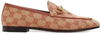 Gucci 10mm Jordan Gg Supreme Canvas Loafers