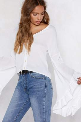 Nasty Gal There's No Stopping You Ruffle Blouse