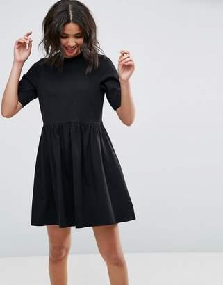 Asos Design Mini Ultimate Cotton Smock Dress
