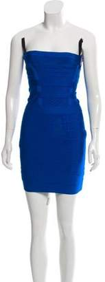 Herve Leger Nola Bandage Dress Blue Nola Bandage Dress