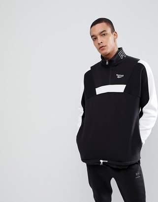 Reebok Vector Half Zip Jacket In Black CE4993