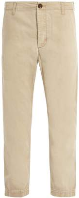 Gucci Logo-print straight-leg chino trousers