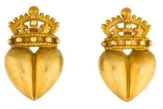 Kieselstein-Cord 18K Royal Heart Earclips