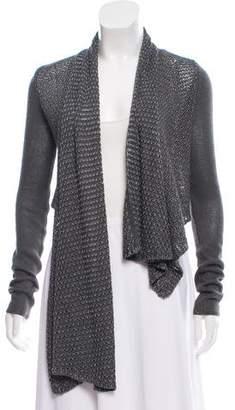 Helmut Lang Draped Knit Cardigan