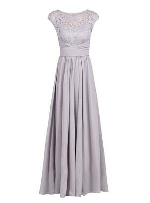 Dorothy Perkins Womens *Jolie Moi Silver Grey Lace Maxi Dress