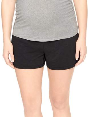 Motherhood Maternity Under Belly French Terry Maternity Shorts- Solid