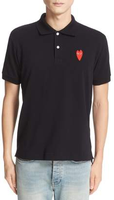 Comme des Garcons Stretch Heart Face Polo