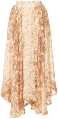 Kitx Ikat printed draped skirt