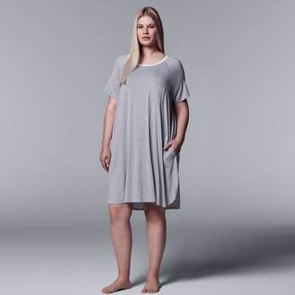Vera Wang Plus Size Simply Vera Printed Sleepshirt