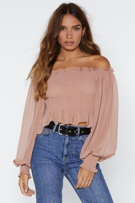 Nasty Gal Who Said Romance is Dead Off-the-Shoulder Top