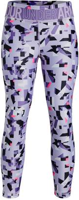 Under Armour Girl's Heatgear Printed Cropped Leggings