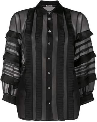 Miu Miu sheer ruffled shirt