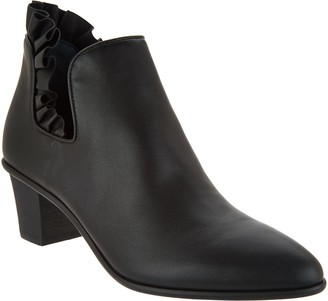 Logo By Lori Goldstein Lori Goldstein Collection Ankle Bootie with Ruffle Detail