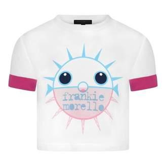 Frankie Morello Frankie MorelloGirls White Logo Print Cepola Top