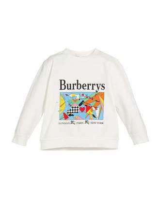 Burberry Patchwork Graphic Logo Tee, Size 4-14