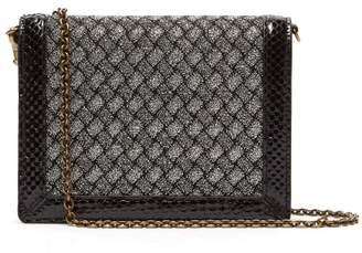 e4575051bbbb Bottega Veneta Intrecciatio Metallic Watersnake Trimmed Clutch - Womens -  Silver
