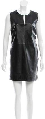 Robert Rodriguez Leather Shift Dress