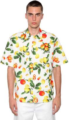 MSGM Fruit Print Cotton Shirt