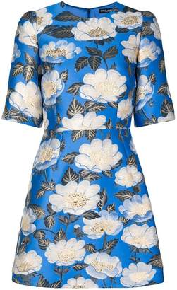 Dolce & Gabbana floral lurex jacquard dress