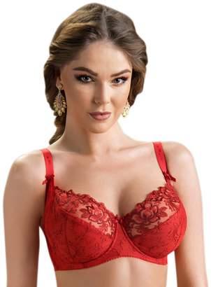 Nessa Women's Rubin Floral Embroide Underwi Soft Bra