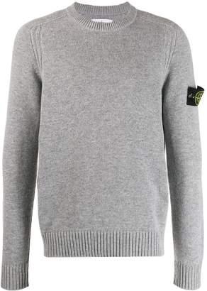 Stone Island logo slim-fit sweater