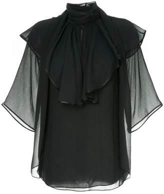 Chloé ruffled half sleeve blouse