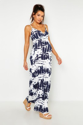 f8d284a908c boohoo Maternity Tie Dye Maxi Dress