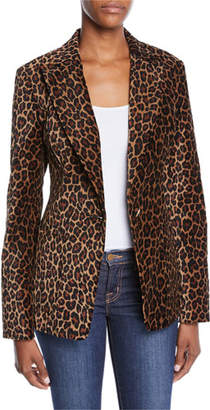 A.L.C. Mercer Leopard-Print Tailored Jacket