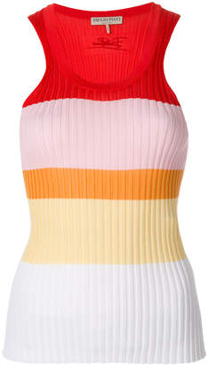 Emilio Pucci ripped sleeveless top