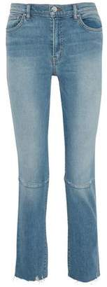 IRO Faded Distressed High-Rise Slim-Leg Jeans