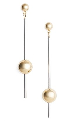 Women's Argento Vivo Stick Ball Earrings $45 thestylecure.com