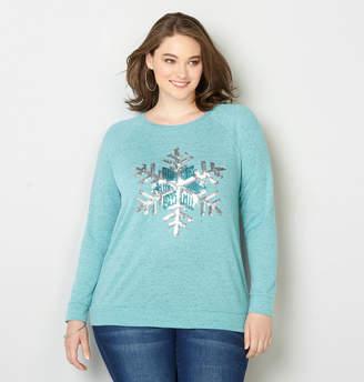 Avenue Snowflake Sequin Pullover