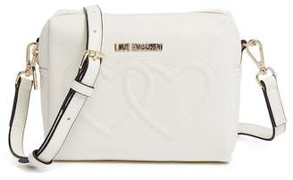 Love Moschino Embossed Heart PU Leather Crossbody Bag