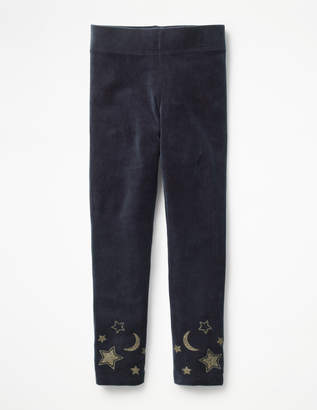 Boden Embellished Velvet Leggings