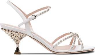 Miu Miu jewelled heel sandals