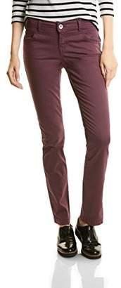 Street One Women's Yella Yoke MW Slimfit Straightleg Trousers,(Manufacturer Size: 38)