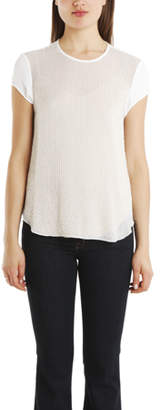 L'Agence Cap Sleeve Beaded Top