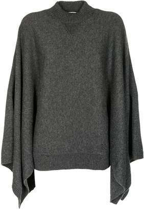 Givenchy Draped Sleeve Cape