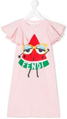 Fendi watermelon logo print dress