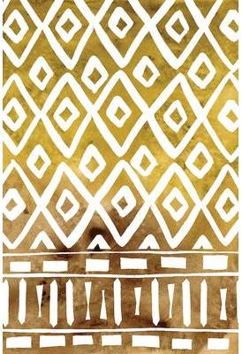 East Urban Home 'Mud Cloth Motif II' Painting Print on Wrapped Canvas