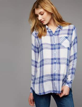 Rails Pea Collection Button Front Maternity Blouse