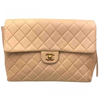 Chanel Timeless/Classique Beige Leather Backpacks