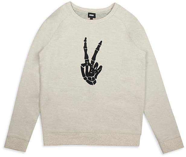 Boys' Skeleton Thumbs-Up Sweatshirt - Big Kid