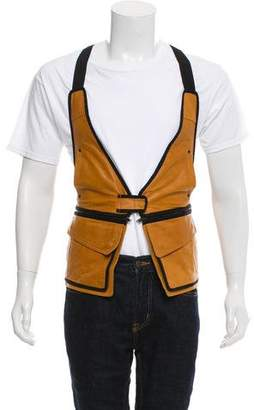 Alexander Wang Leather Utility Vest w/ Tags